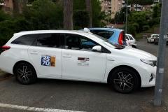 Toyota Auris hybrid .5 porte bianco